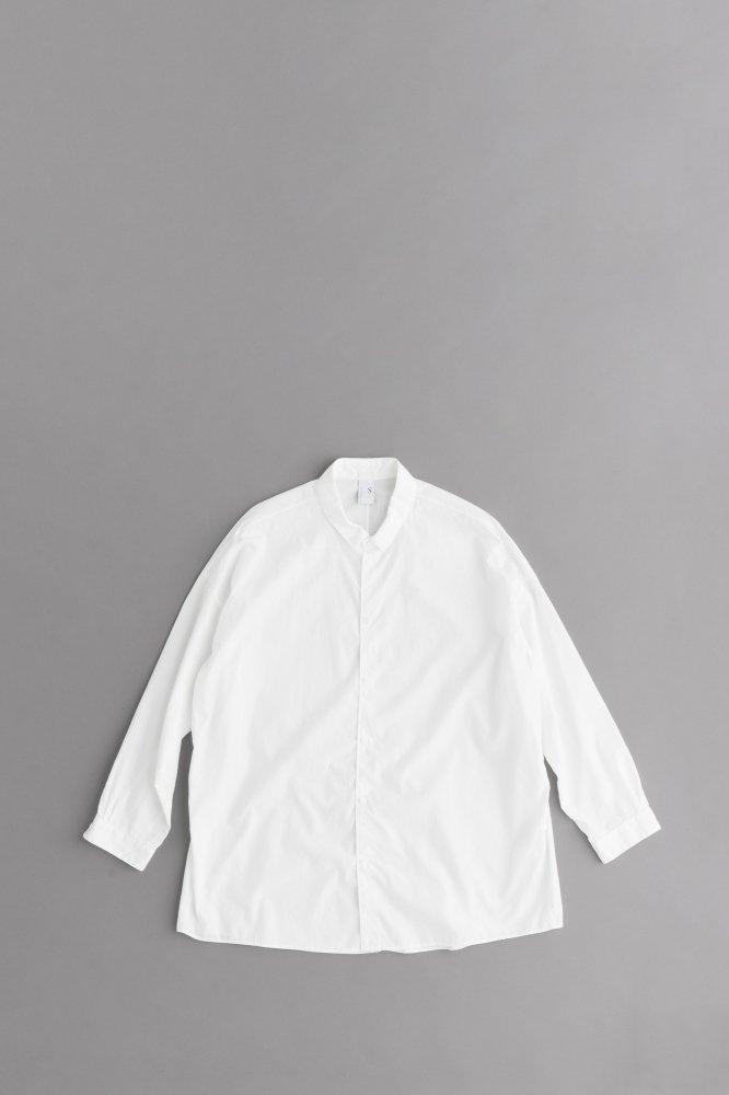 NO CONTROL AIR 100/2 コーマ高密度ブロード ワイドシャツ(オフホワイト)