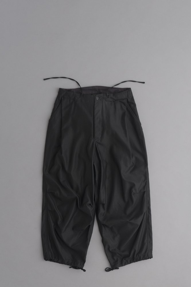 HAVERSACK Back Satin Wide Easy Pants (Black)