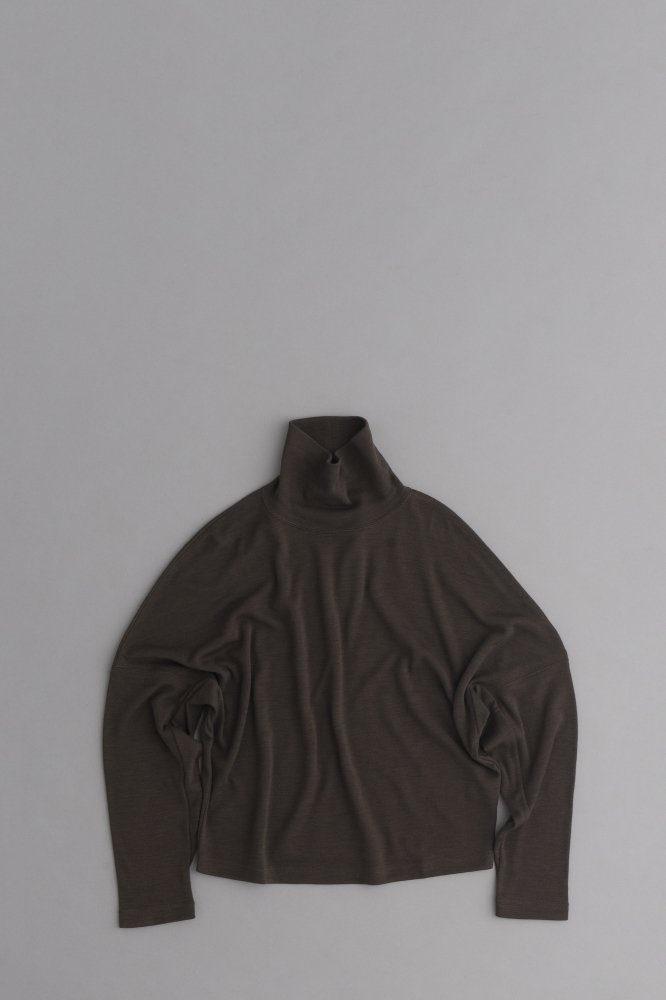 HAVERSACK ♀High Neck Wide Pullover (Brown)