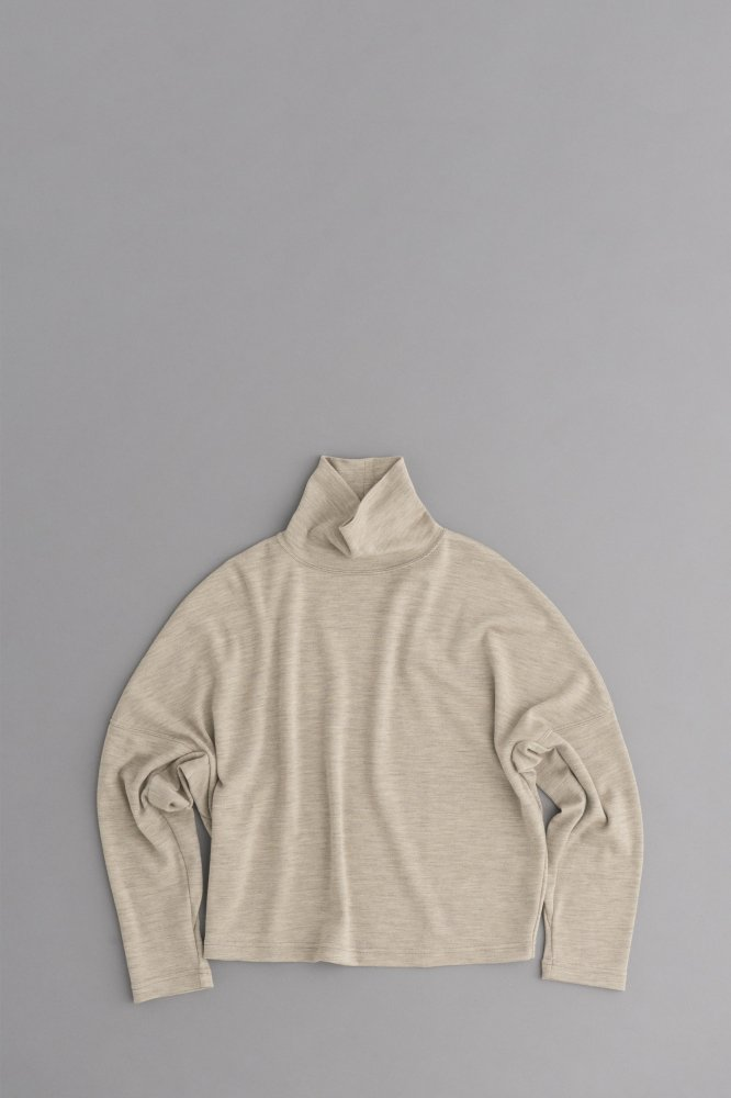 HAVERSACK ♀High Neck Wide Pullover (Top Beige)