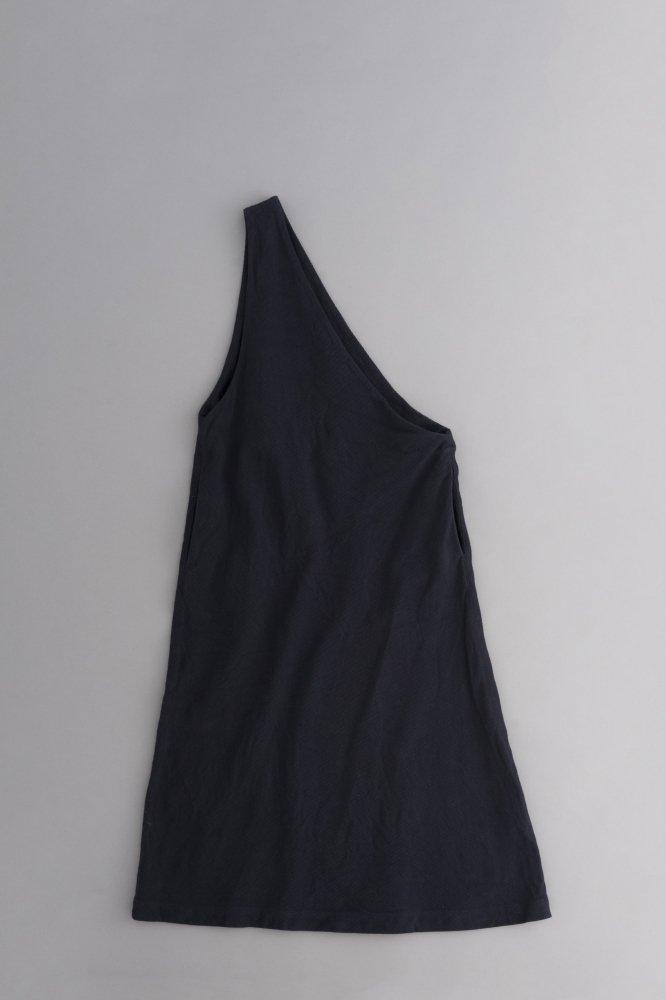 ゴーシュ ♀リネンコットンカルゼ ワンショルダー ジャンパースカート (ネイビー)