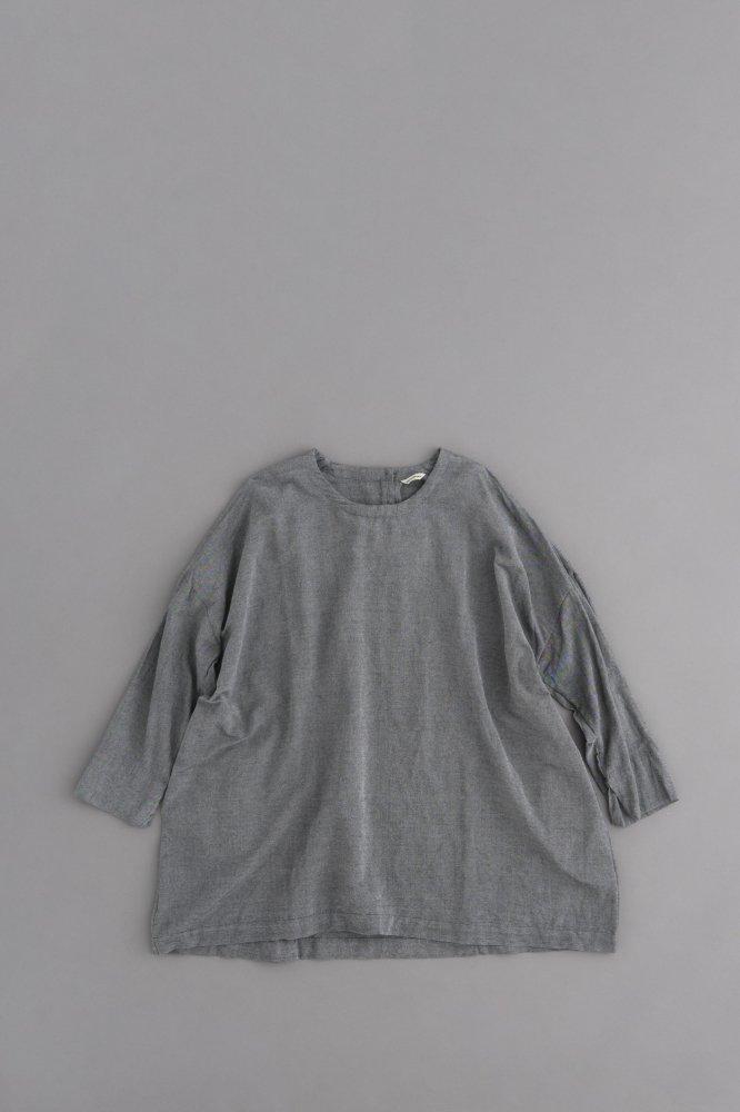 jujudhau ♀ SMALL NECK SHIRTS (C/BAMBOO CHAMBRAY)