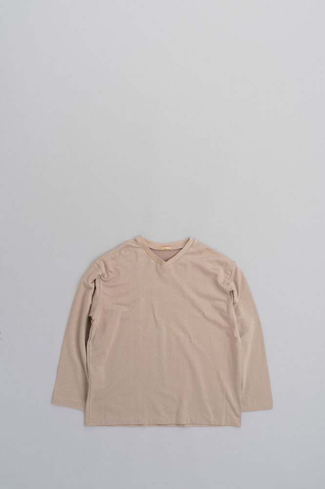 LAMOND Lyocell Cotton  L/S TEE (Gray Beige)