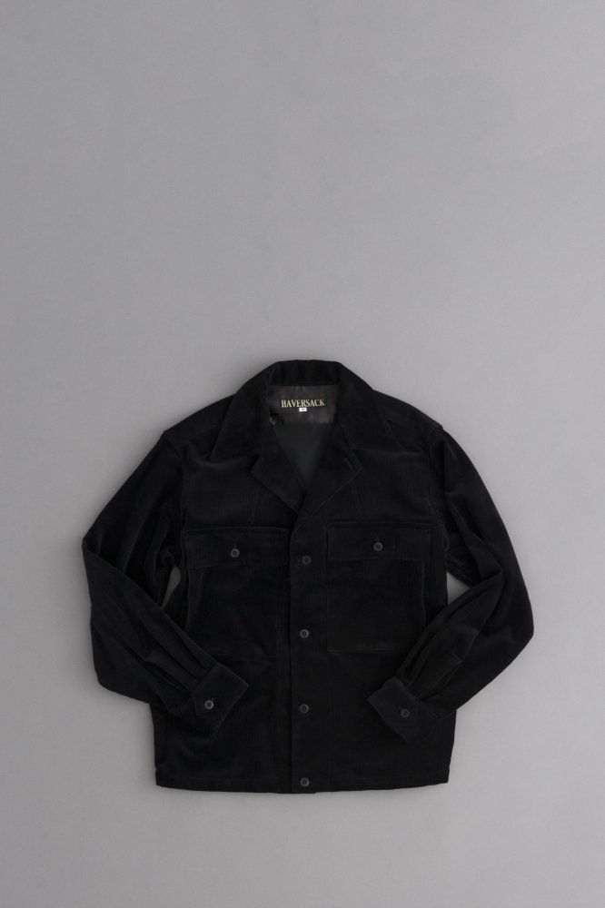 HAVERSACK Corduroy Shirt Jacket (Black)
