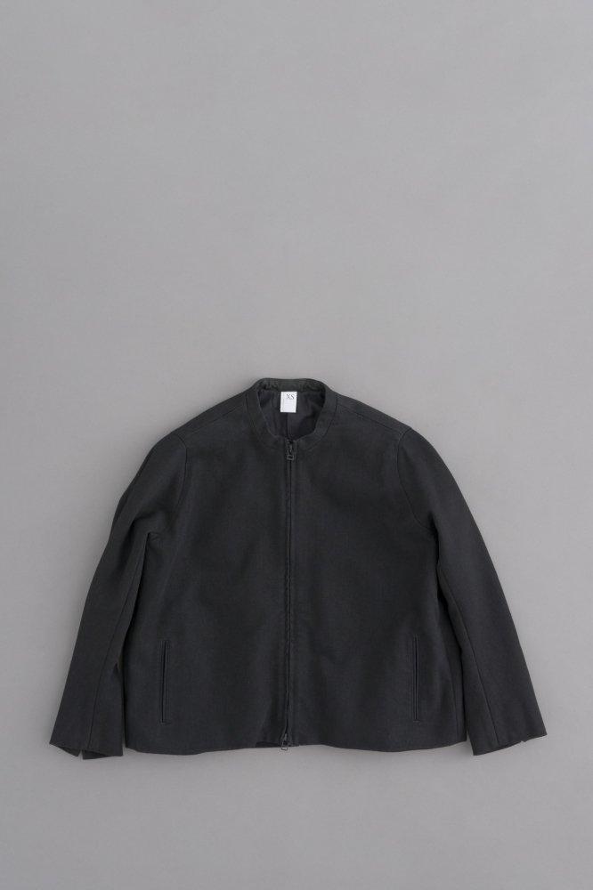 NO CONTROL AIR コットンエステルデニム ノーカラージップジャケット (ブラック)