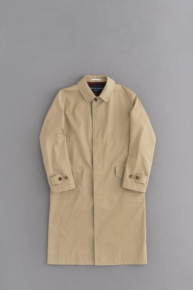 COMME des GARCONS HOMME Cotton Twill Soutien Collar Coat (Beige)