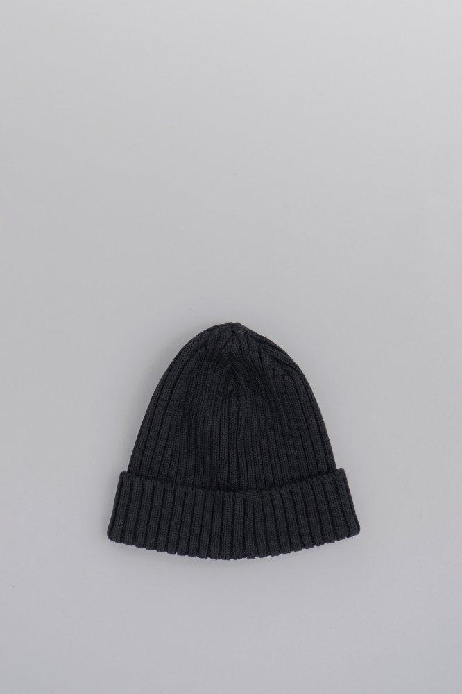 KIJIMA TAKAYUKI Wool Knit Cap (Black)
