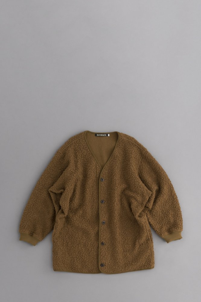 HAVERSACK ♀Sheep Pile Cardigan Jacket (Brown)