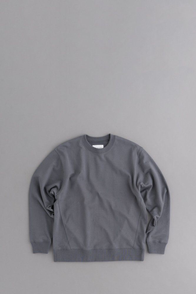 STILL BY HAND Crew Neck Pullover (Charcoal)