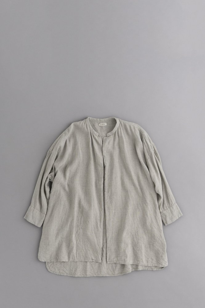 jujudhau ♀SHIRTS JACKET (LINE WOOL CHAMBRAY)