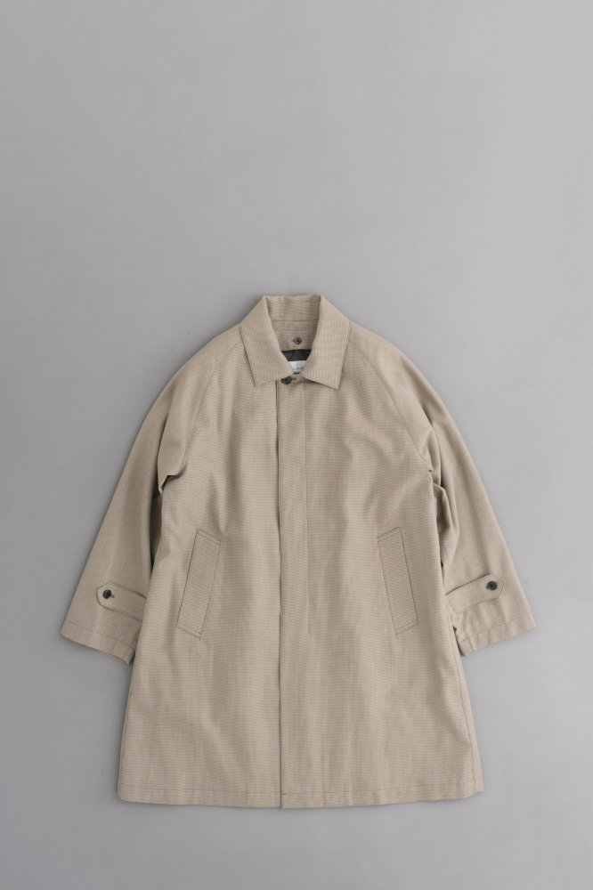 STILL BY HAND Wool Check Coat (Beige Check)