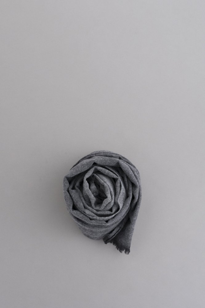 STILL BY HAND 2-Tone Color Big Stole (Grey × Lgry)