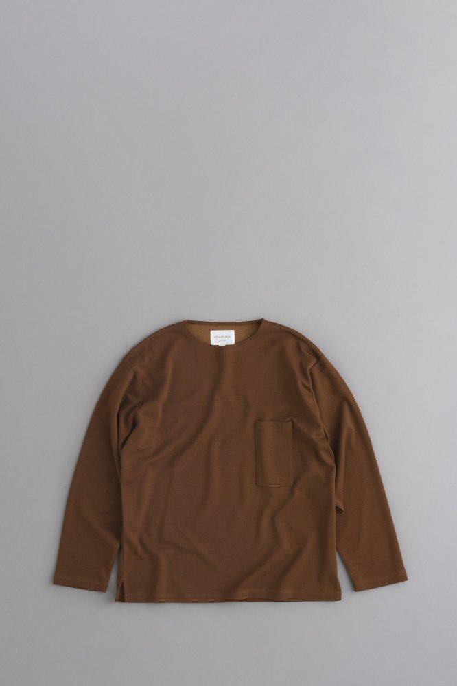STILL BY HAND Milano Rib Pullover (Brick)
