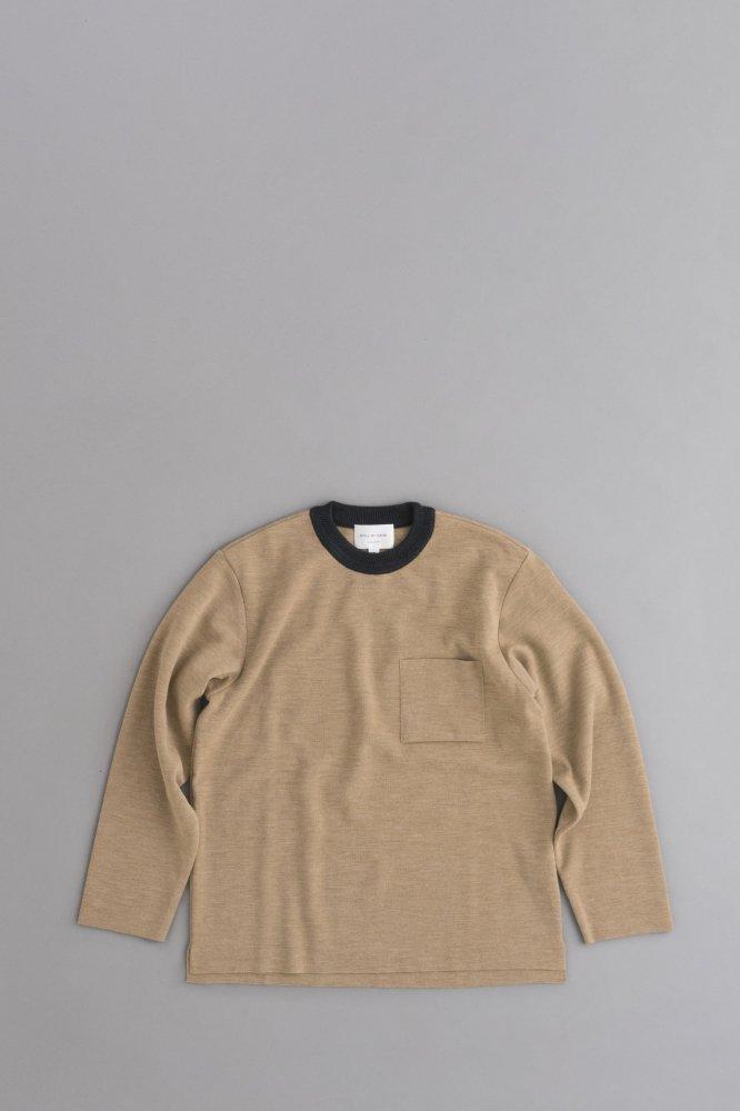 STILL BY HAND Trim Milano Rib Pullover (Camel)