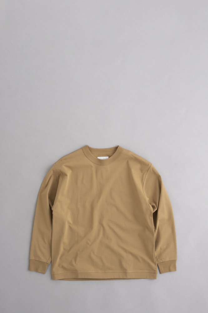 STILL BY HAND Crew Neck Pullover (Beige)