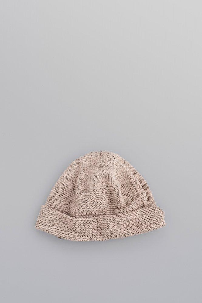 KIJIMA TAKAYUKI Neck Protection Knit Cap (Khaki)