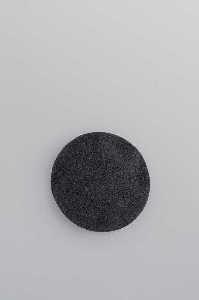 KIJIMA TAKAYUKI Paper Knit Mix Beret (Black)