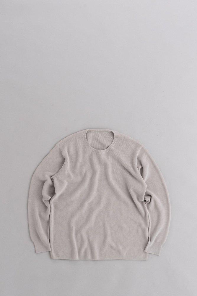 ゴーシュ ♀コンパクトツイストリブ クルーネック (ライトグレー)