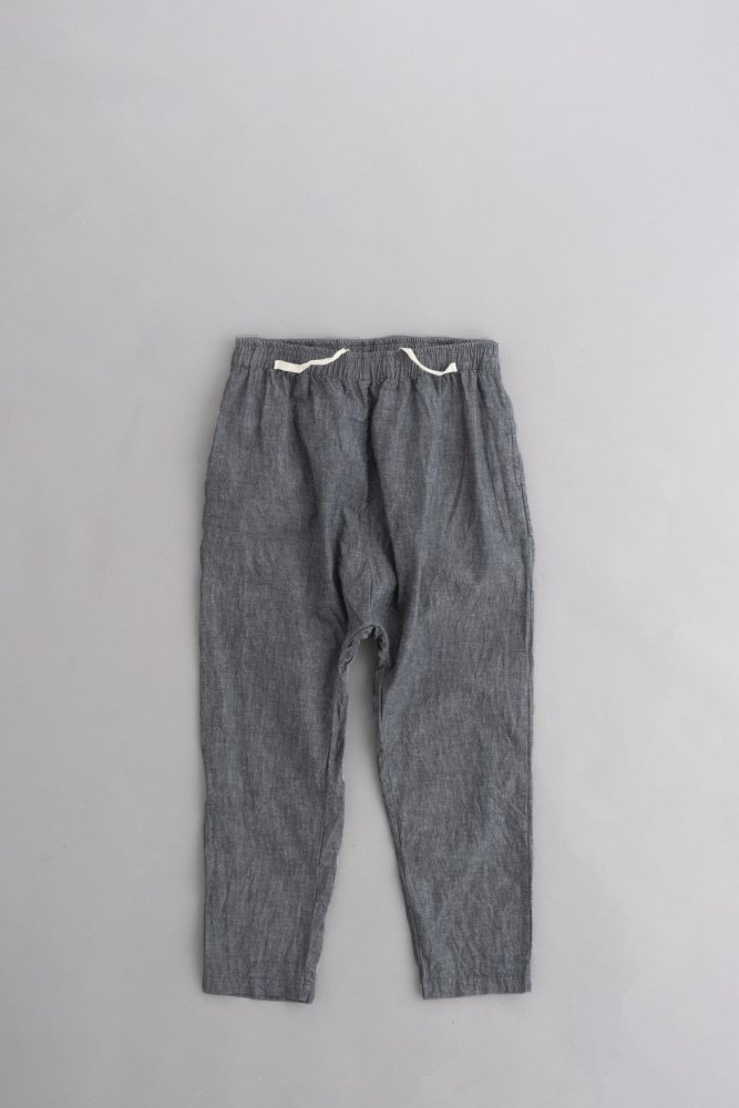 jujudhau ♀MONPE PANTS (BLACK CHAMBRAY)