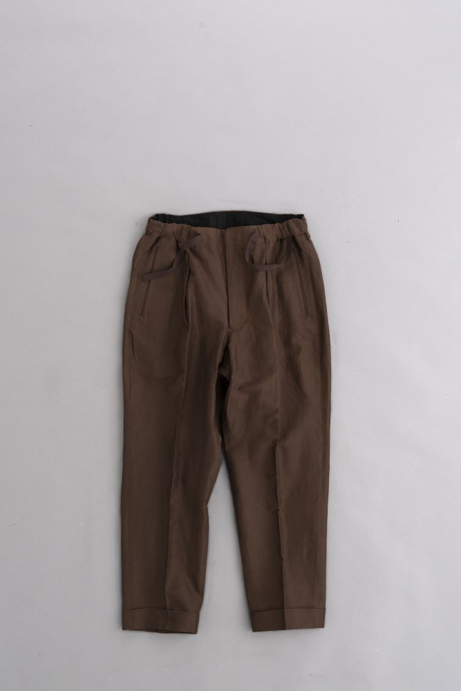 HAVERSACK Grosgrain Tapered Easy Pants (Brown)
