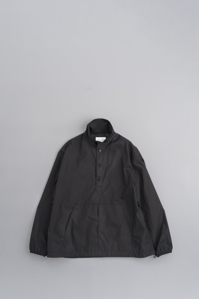 STILL BY HAND Micro Ripstop Nylon Anorak (Black)