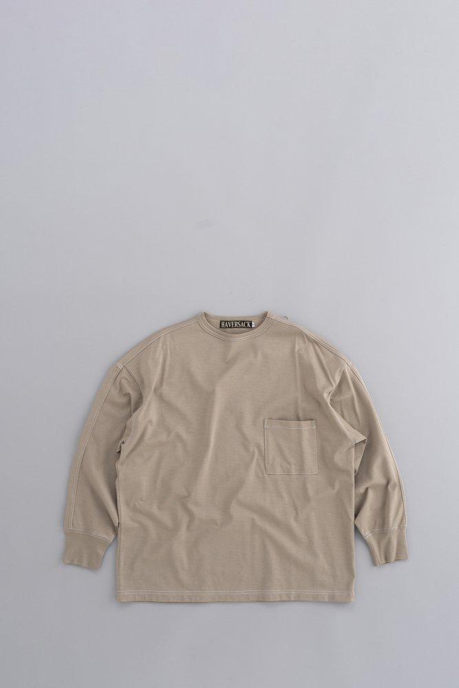 HAVERSACK Crew Neck 1P Wide Pullover (Beige)