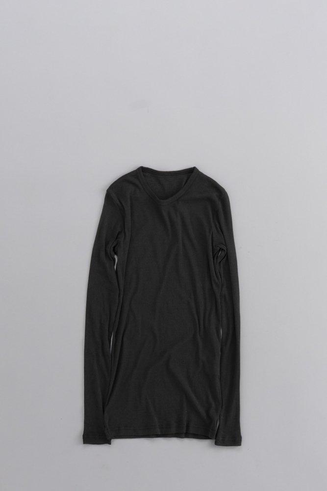 ゴーシュ ♀ 80/1 強撚フライス ロングスリーブ (ブラック)