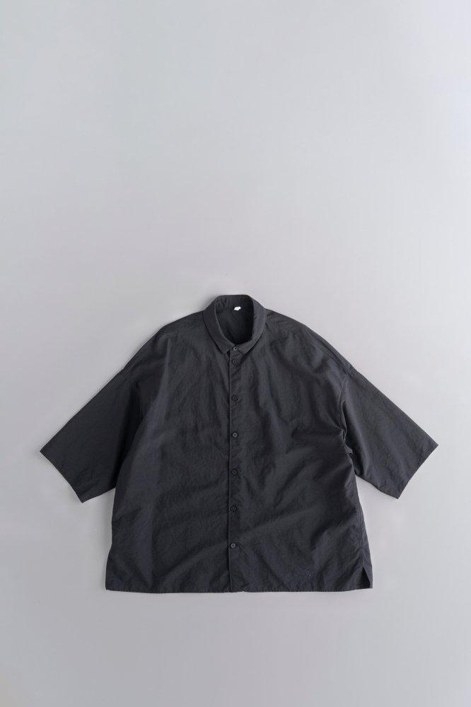 FIRMUM ナイロンタッサー ビッグシャツ (ブラック)