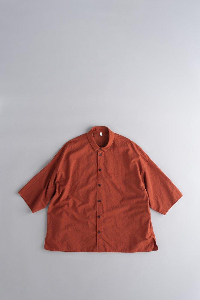 FIRMUM ナイロンタッサー ビッグシャツ (テラコッタ)
