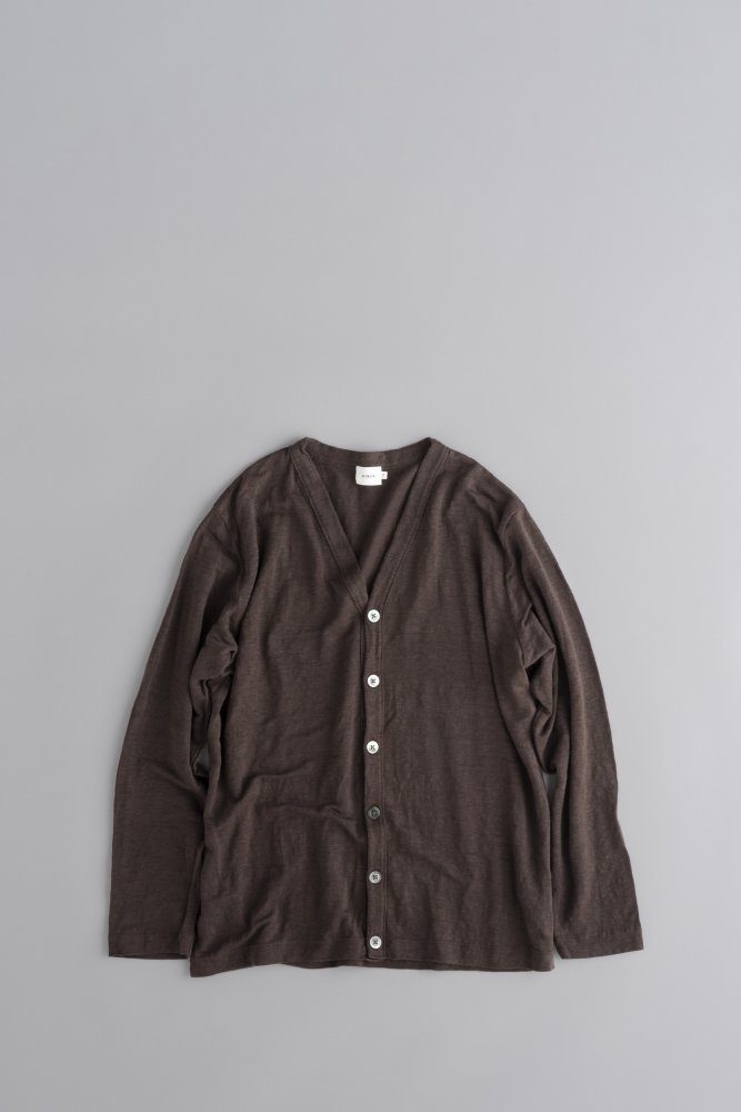 RINEN Linen Cardigan (Brown)