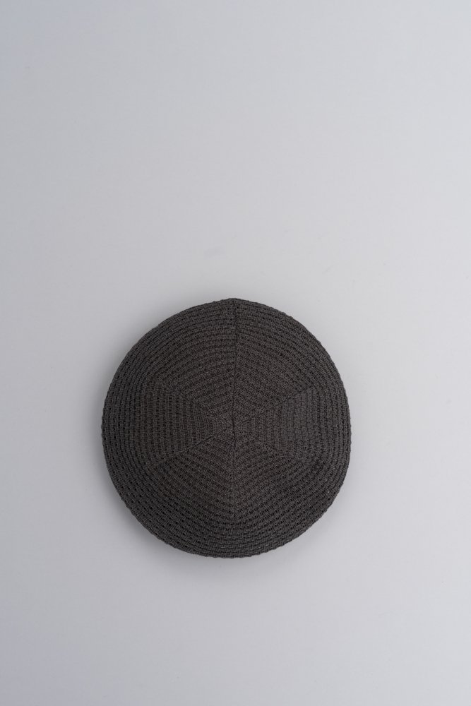 KIJIMA TAKAYUKI Cotton Knit Beret (Gray)