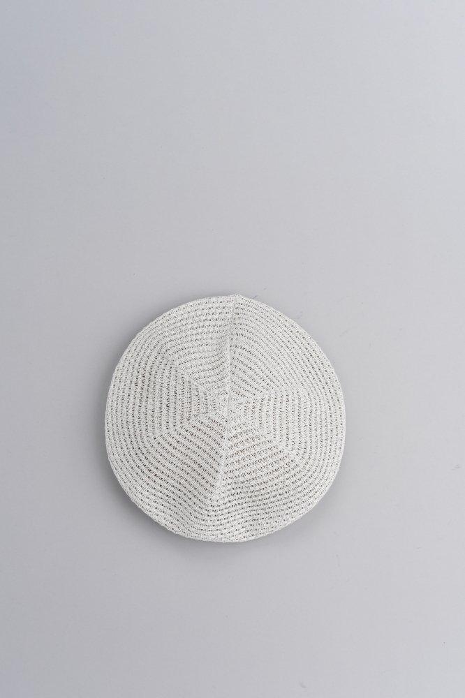KIJIMA TAKAYUKI Cotton Knit Beret (L,Gray)