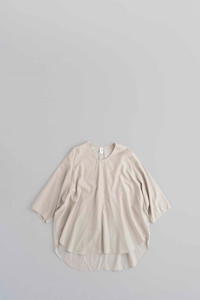 NO CONTROL AIR キュプラコットンフィブリルカルゼ ビッグシャツ (ナチュラル)