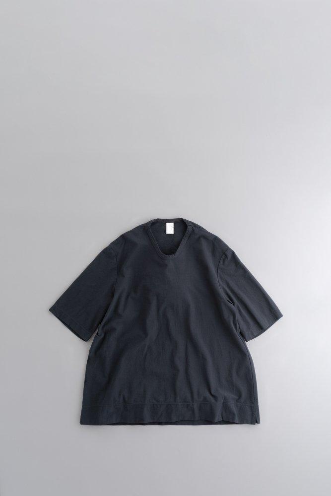 NO CONTROL AIR 強撚コットンニットジョーゼット Tシャツ(ミッドナイト)