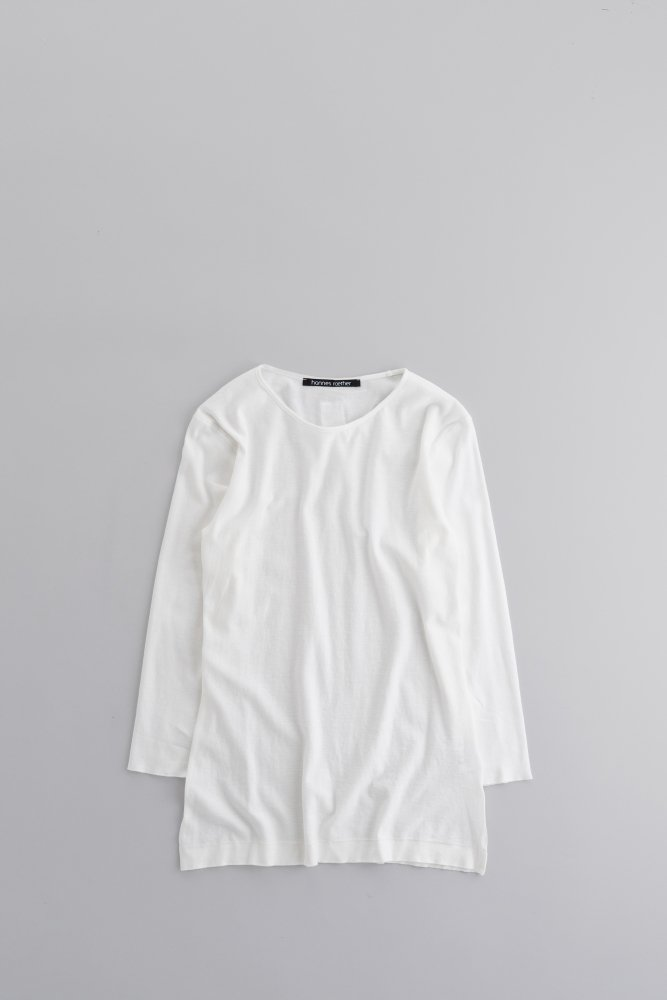 hannes roether  ♀7/10 Sleeve Pullover (White)