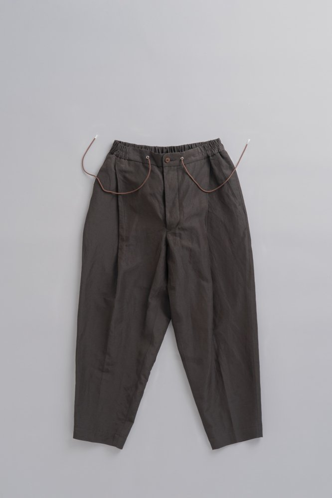 HAVERSACK Hard Twist Poplin Wide Pants (Dark Brown)