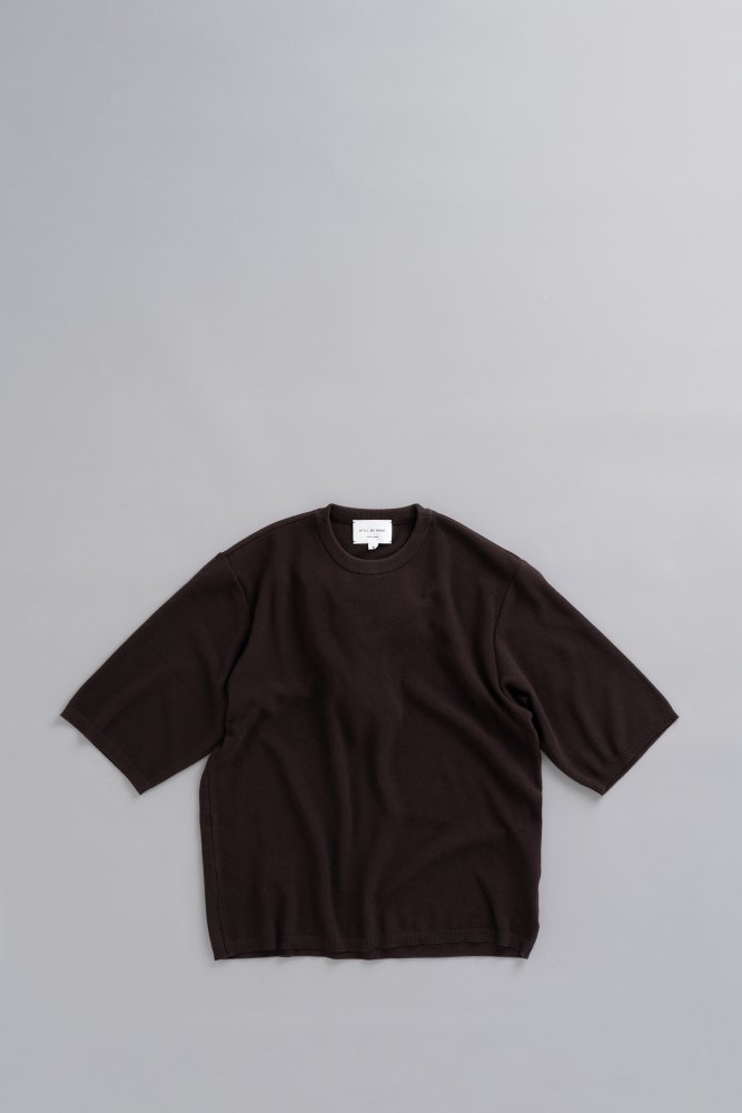 STILL BY HAND 6/10 Knit T (Brown)