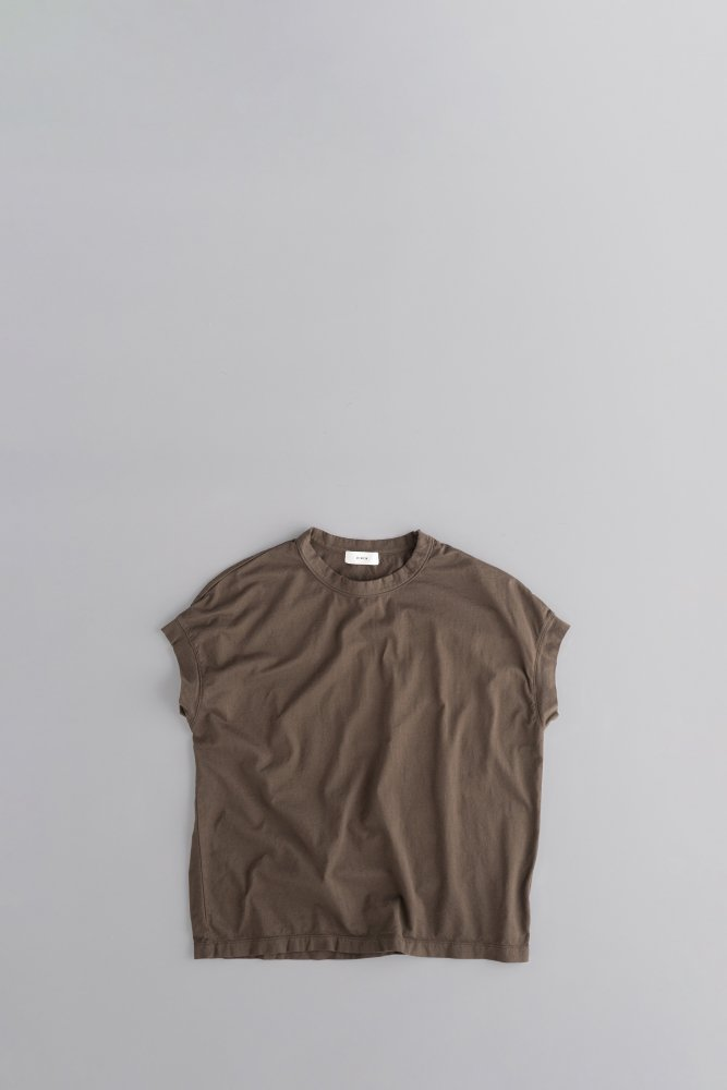 RINEN ♀Crew Neck French Sleeve (Brown)