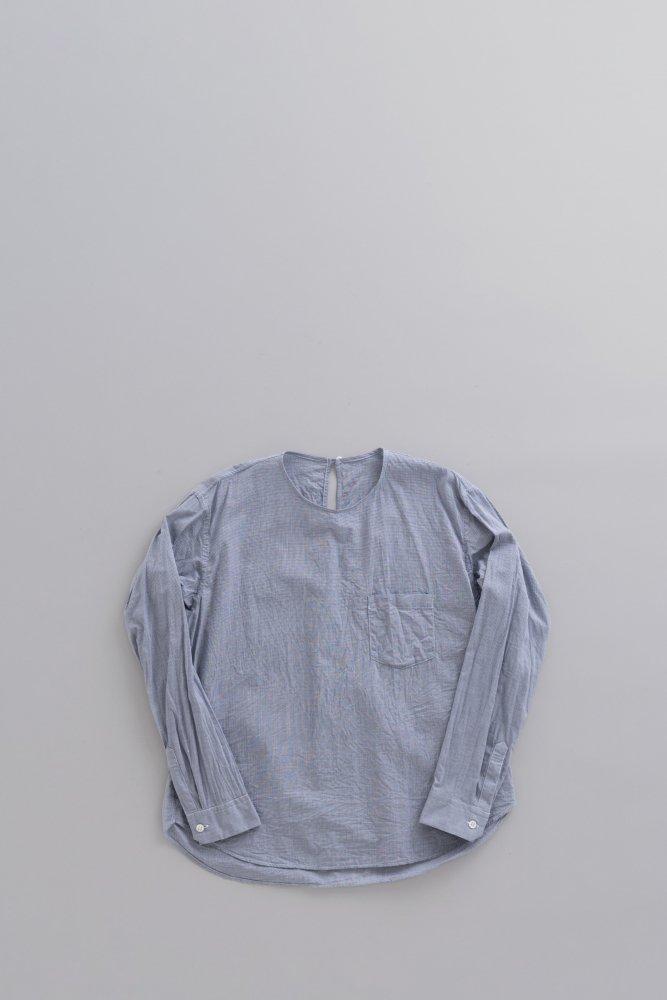 ゴーシュ ♀ブロード クルーネック プルオーバーシャツ (ギンガム)