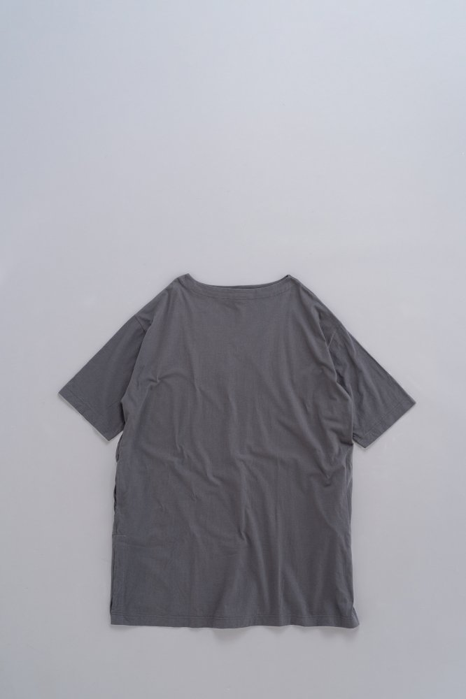 jujudhau ♀BOAT NECK TUNIC (COTTON GRAY)