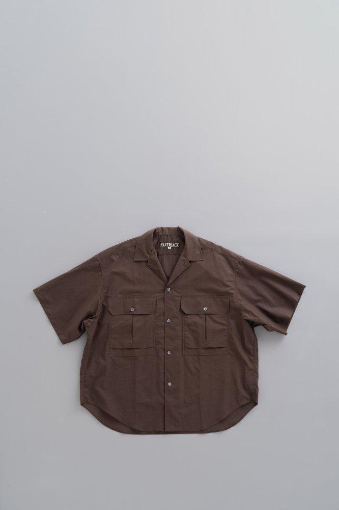 HAVERSACK C/L Weather Cloth BIg S/S Shirt (Brown)