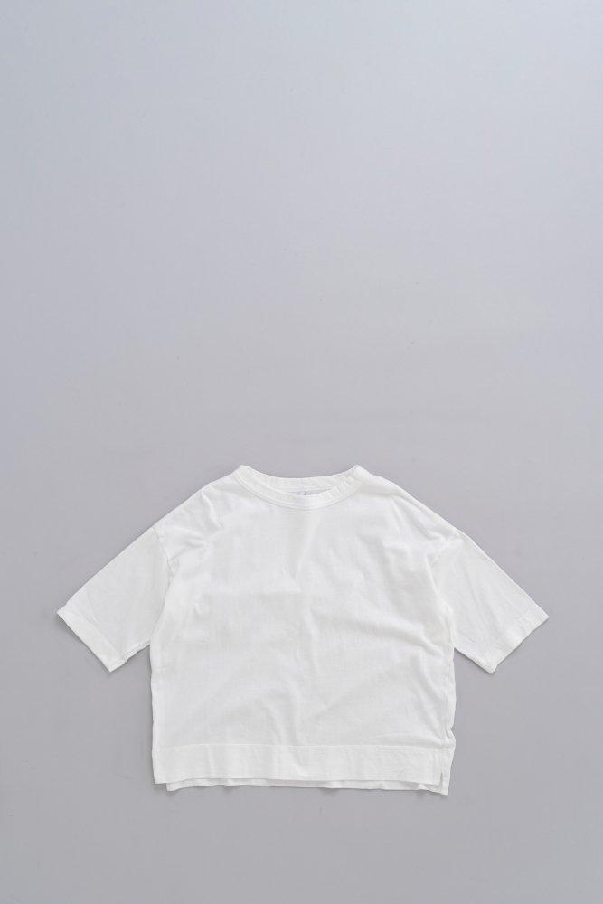 FIRMUM ♀レーヨン混ネップ天竺 6分袖 ワイド T (オフホワイト)