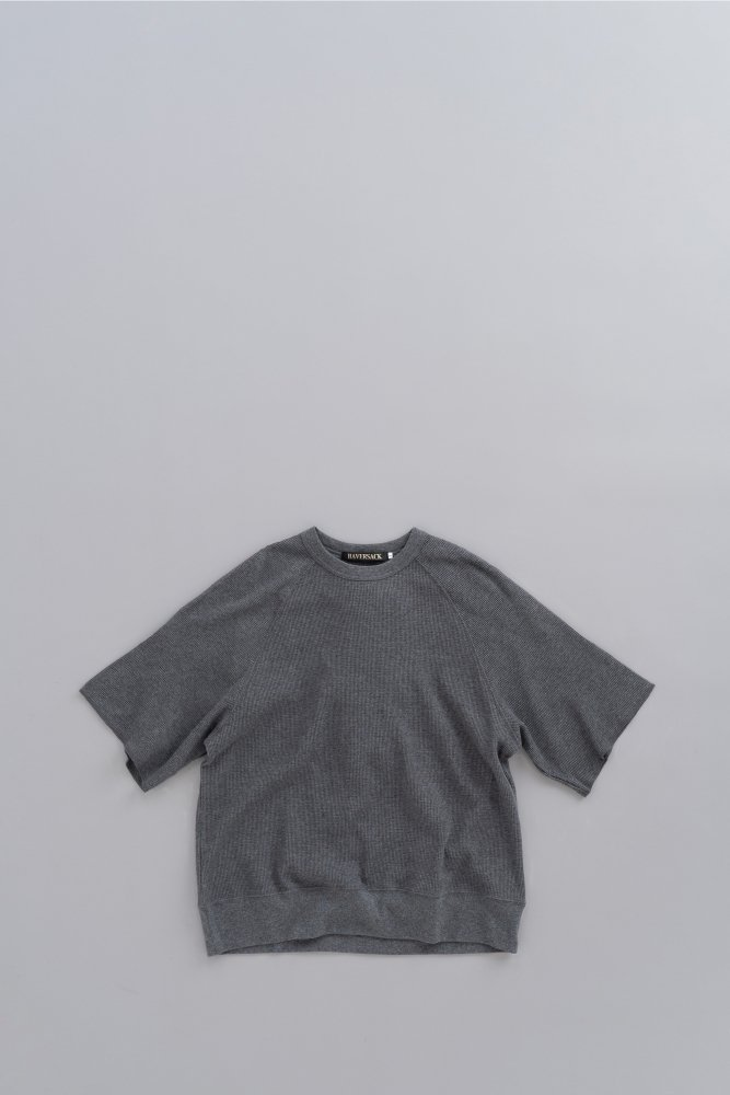 HAVERSACK Waffle S/S Pullover (Charcoal)