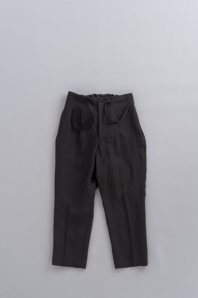 HAVERSACK ♀Linen Poplin Wide Pants (Black)
