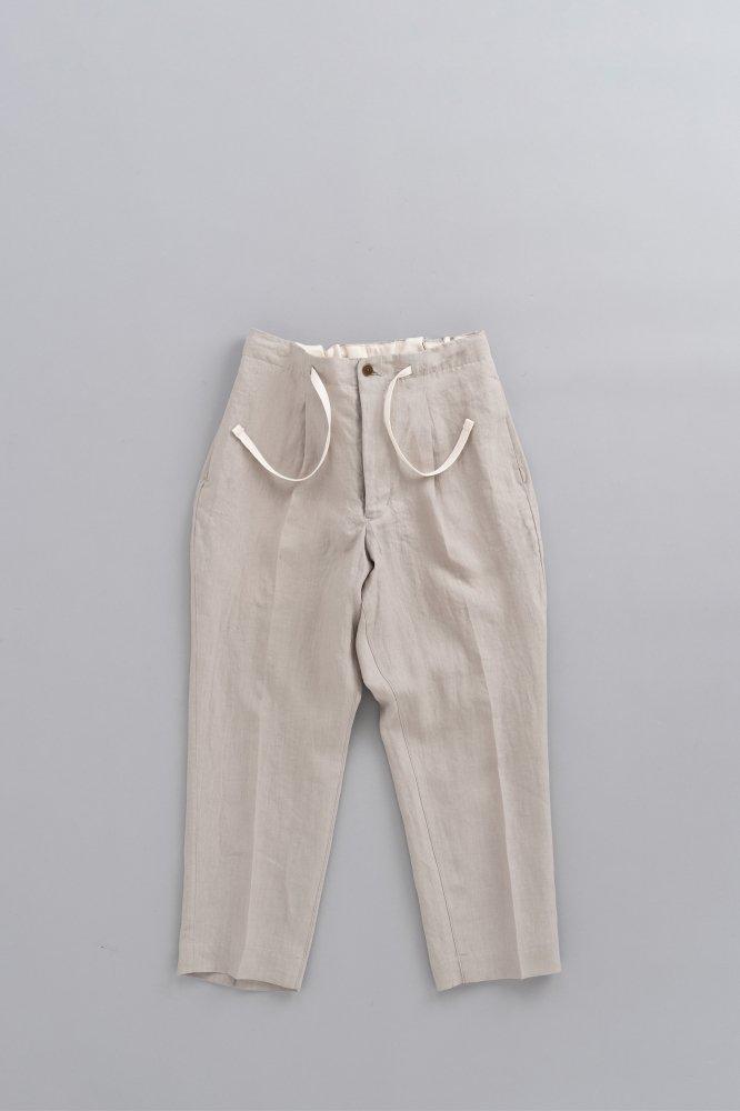 HAVERSACK ♀Linen Poplin Wide Pants (Beige)