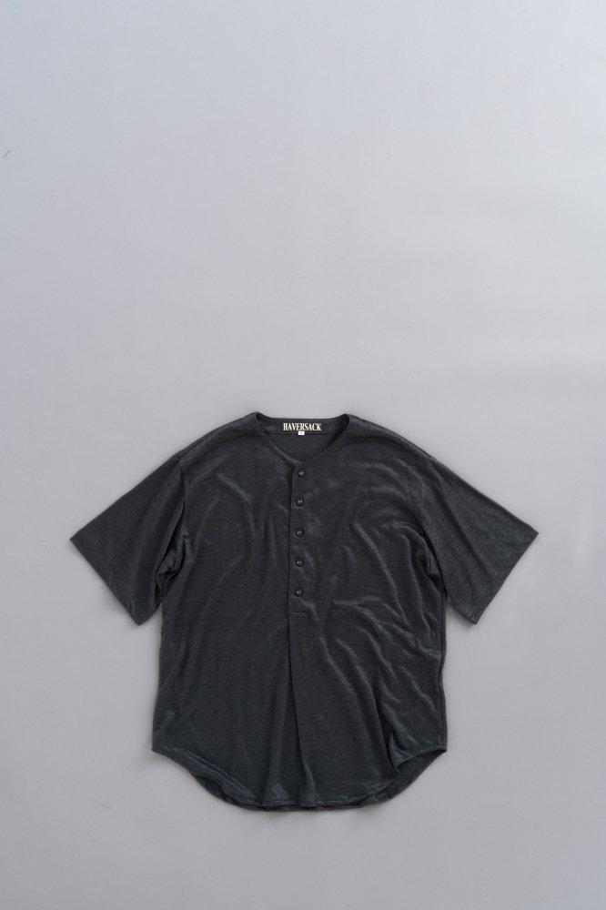 HAVERSACK Linen Henry Neck Big Pullover (Black)