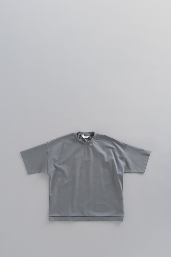 STILL BY HAND Crew Neck Punch T (Slate Grey)