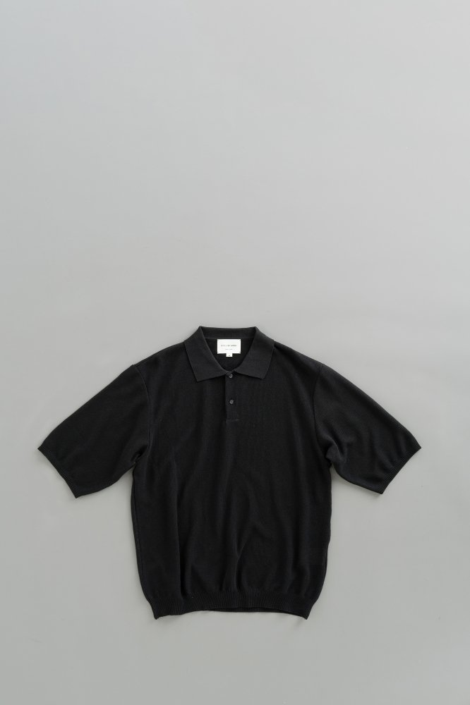 STILL BY HAND Knit Polo (Black)