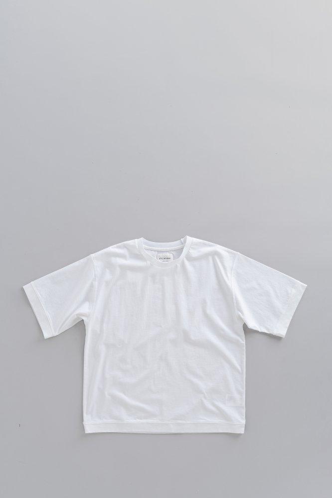 STILL BY HAND Crew Neck Oversize T (White)