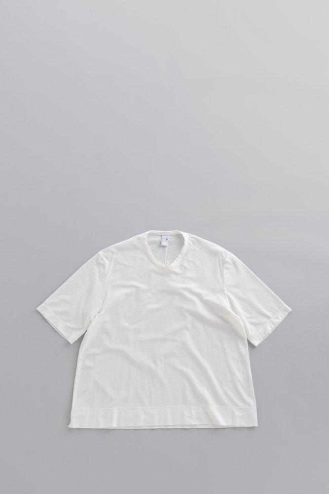 NO CONTROL AIR 強撚コットンニットジョーゼット Tシャツ(オフホワイト)